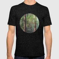 breathe. Mens Fitted Tee Tri-Black SMALL