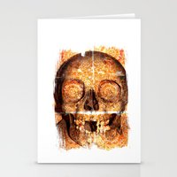mosaica skully Stationery Cards