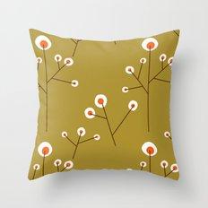 Retro Green Pattern Design Throw Pillow