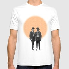 Two Brothers SMALL White Mens Fitted Tee