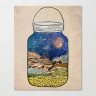 Canvas Print featuring Star Jar by Jenndalyn