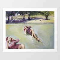 Agnes on the lawn Art Print