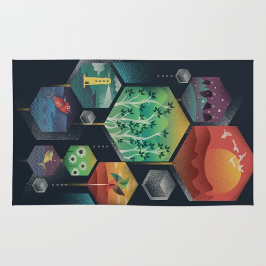Geometrical Wonders Area & Throw Rug