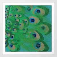 Art Print featuring Peacock by PintoQuiff