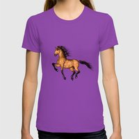 Prairie dancer Womens Fitted Tee Ultraviolet SMALL