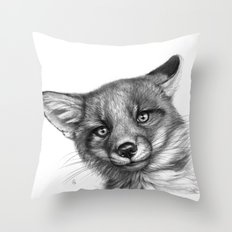 Fox Cub G139 Throw Pillow