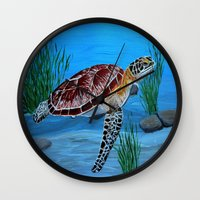 Sea Turtle  Wall Clock