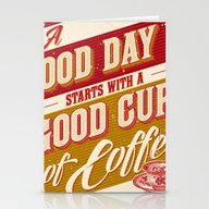 A Good Day Starts With A… Stationery Cards