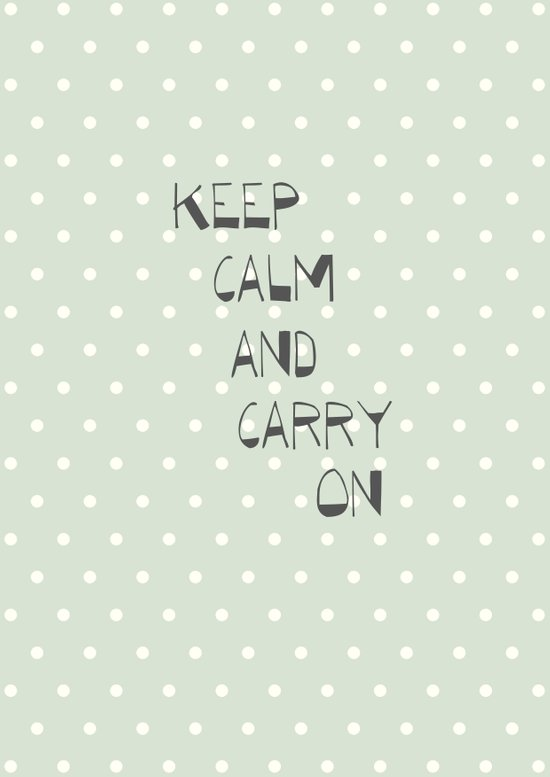 Keep Calm and Carry on ~ polka dot ~ poster ~ typography ~ illistration Canvas Print
