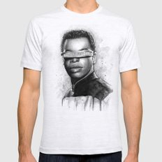 Geordi La Forge Star Tre… Mens Fitted Tee Ash Grey SMALL