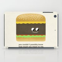 Cheesy Burger iPad Case