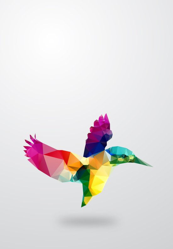 Bird. Glass animal series Art Print