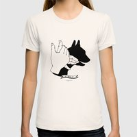Hand-shadows Mr Dog Womens Fitted Tee Natural SMALL