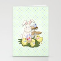 White Rabbit And Easter … Stationery Cards