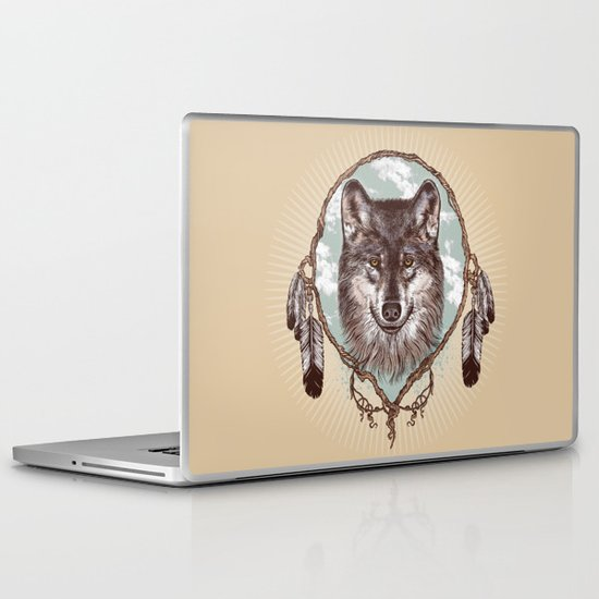 Gray Wolf Laptop & iPad Skin