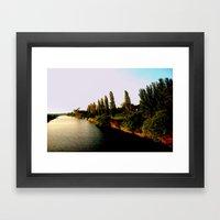 Cruising down the Thompson River Framed Art Print
