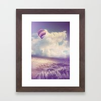 BALLOON FLIGHT Framed Art Print