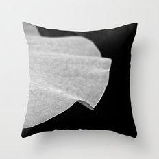 Black & White Lotus Leaf Throw Pillow