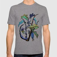 Jolie Ville Mens Fitted Tee Tri-Grey SMALL
