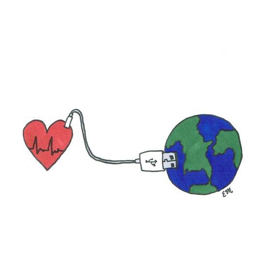 World and Love Art Print