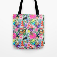 Butterflies and Moths Pattern - Grey Tote Bag