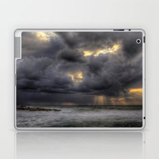 Ray of light through the clouds above the Mediterranean sea, Tel-Aviv, Israel Laptop & iPad Skin