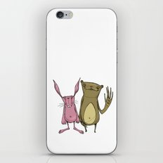 Bunny and Bear Friends  iPhone & iPod Skin