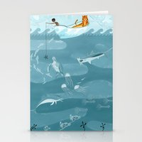 Life Of Pi (Fishing) Stationery Cards