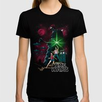 Time Wars Womens Fitted Tee Black SMALL