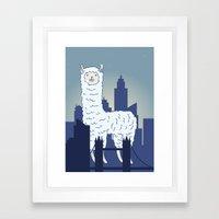 Hover Llama  Framed Art Print