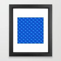Dogs-Blue Framed Art Print