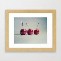 cherries 001 Framed Art Print