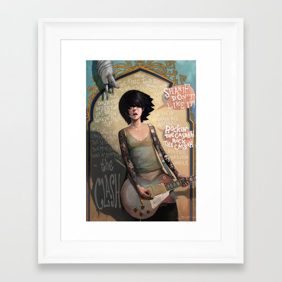 Rock the Casbah Framed Art Print