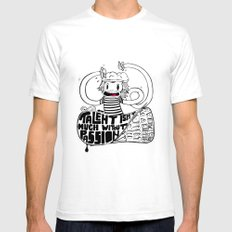 Brainiac SMALL White Mens Fitted Tee