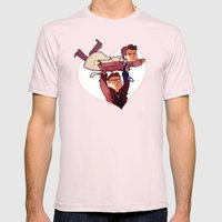LET ME BE YOUR WINGS Mens Fitted Tee Light Pink SMALL