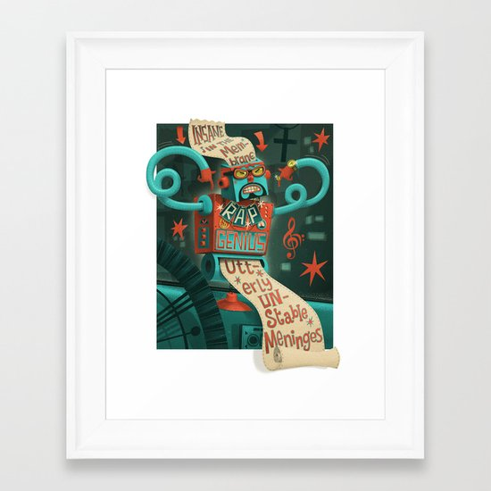 Insane in the... Framed Art Print