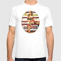 Glitch Pin-Up Redux: Britney Mens Fitted Tee White SMALL