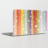 Snow Falls On The Rainbo… Laptop & iPad Skin