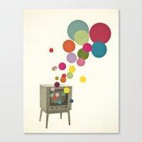 Colour Television Canvas Print
