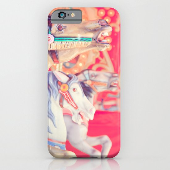 Pink Carousel Horse iPhone & iPod Case