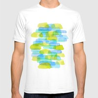 Watercolor 001 Mens Fitted Tee White SMALL