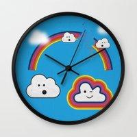 The Great Rainbow Cloud Robbery Wall Clock