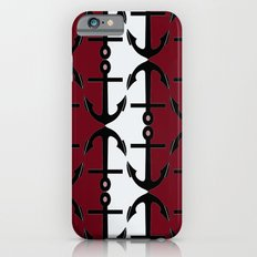 Anchors: Red, Coral and White iPhone 6s Slim Case