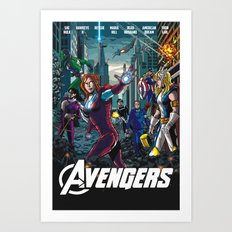 The Lady Avengers Art Print