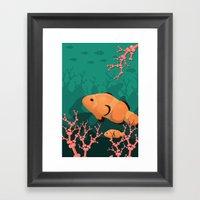 Save The Reef Framed Art Print