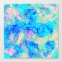 Electrify Ice Blue Canvas Print