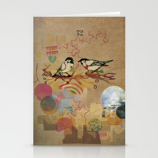 Two Little Birds Stationery Card