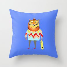 Tiger Dude Throw Pillow