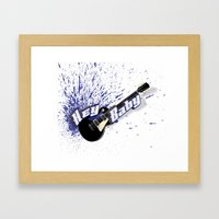 Hey Baby Guitar Framed Art Print