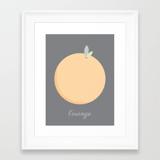 L'orange Framed Art Print